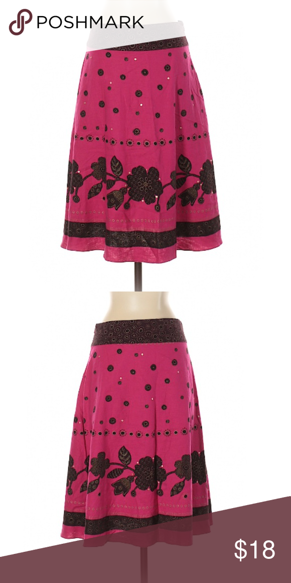 bc107cd4978 Liz Claiborne Floral Print and Polka dot Skirt In good condition Size 2(P)  24