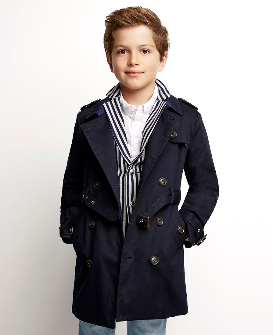 cad971466 Little Boy s Romeo Trench Coat - Bardot Junior