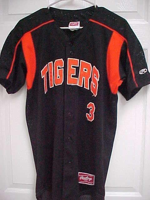 finest selection 2ecc2 e5c26 DETROIT TIGERS 3 Mesh Stitched Black Button Front Baseball Jersey 36  Rawlings  Rawlings  DetroitTigers