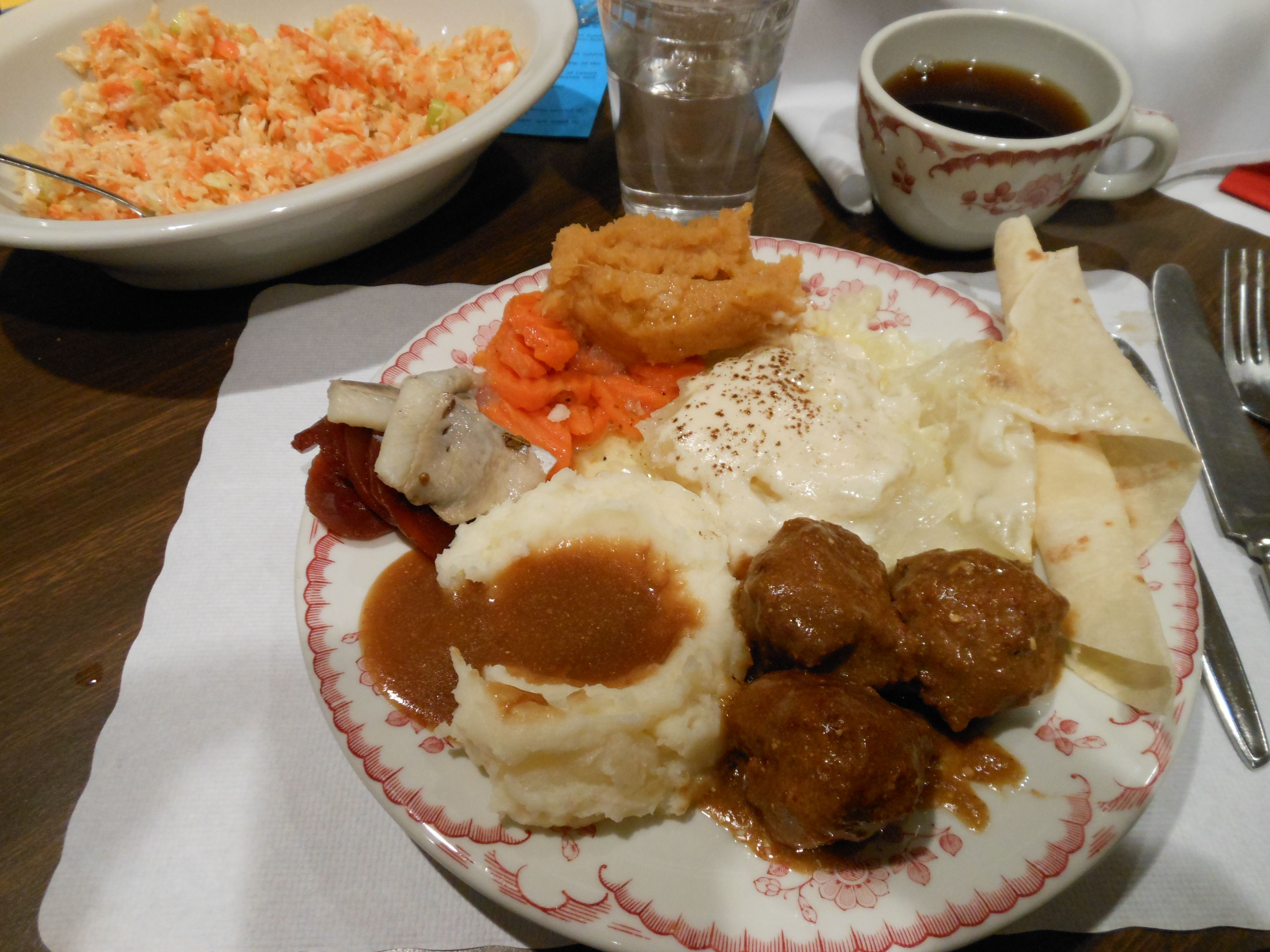 Lutefisk and meatball dinner, 1st Lutheran Columbia Heights.  YUM