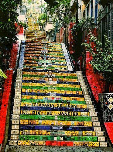 Rio de Janeiro, Brasil - escadaria Selaron