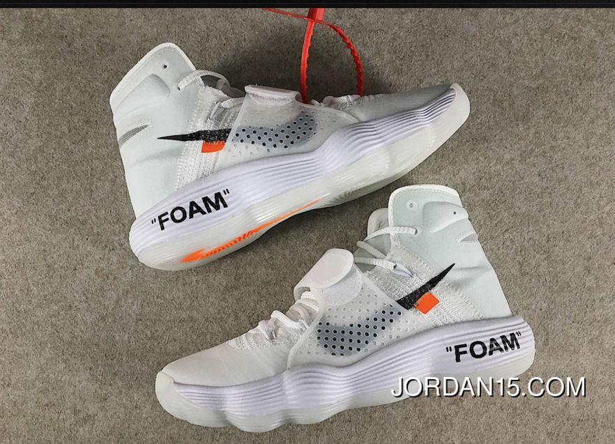 buy online 6de12 77917 Off-White X Nike React Hyperdunk 2017 Flyknit White Copuon
