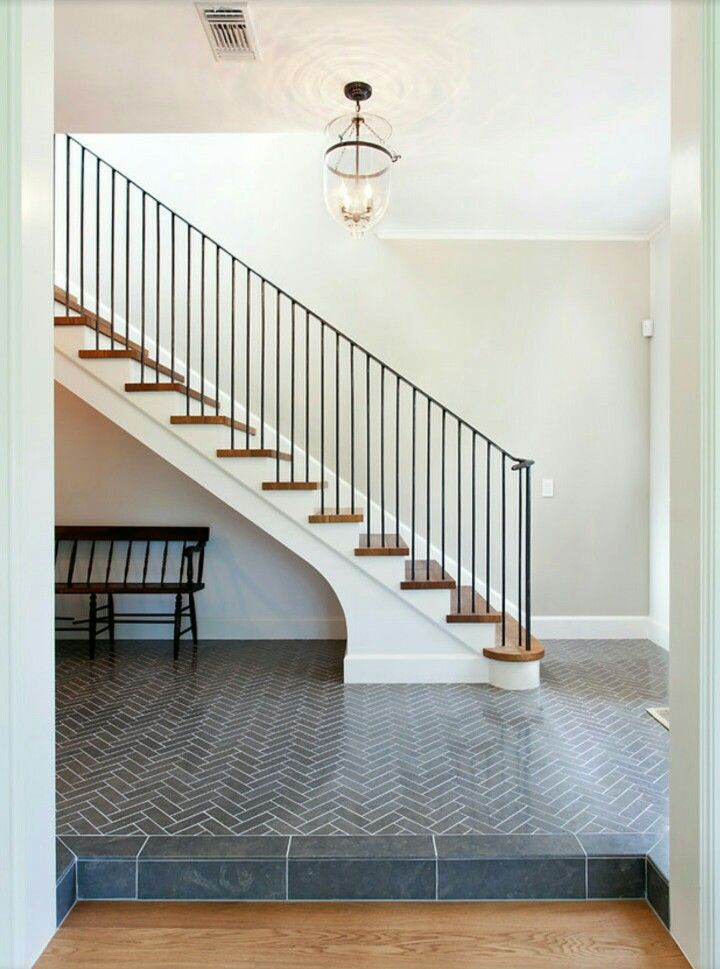 Staircase update   Tiled staircase, Staircase design ...