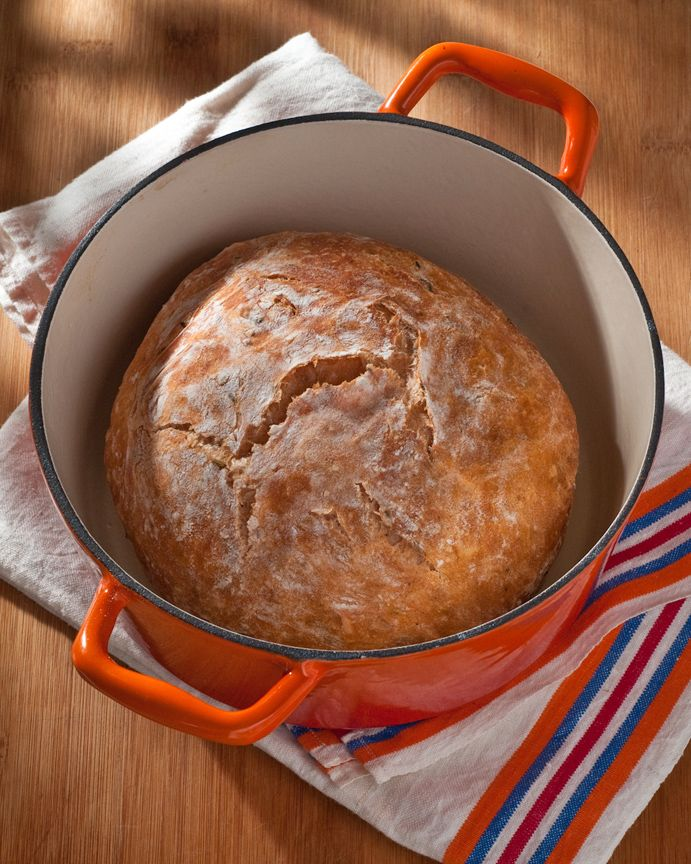 No-Knead Bloody Mary Bread, made with tomato juice, chili peppers, and fennel seed — Beth Dunham