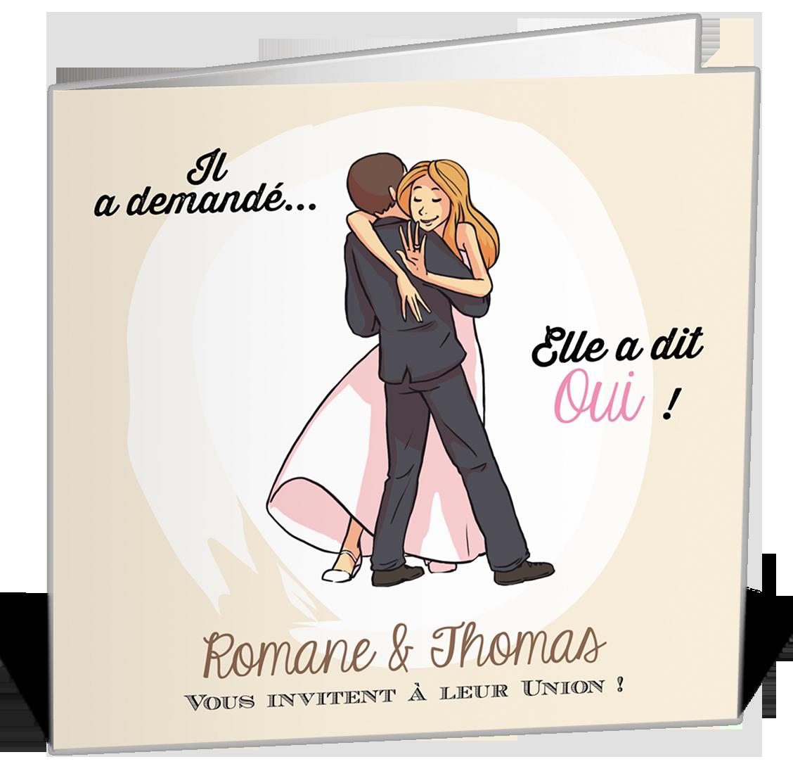 Faire Part Mariage Mariés Illustrés Faire Part Mariage Humoristique Faire Part Mariage Mariage Humour