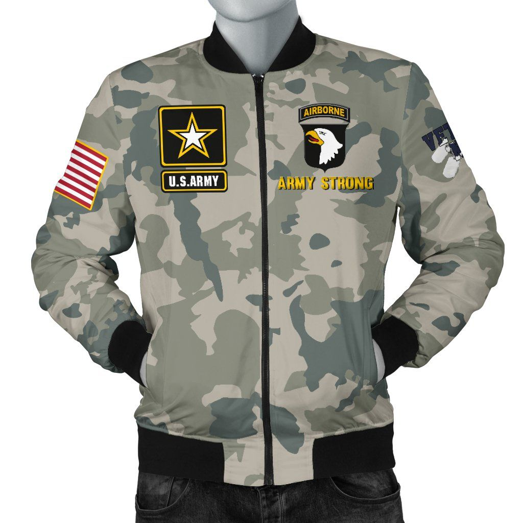 Us Army 101st Airborne Division Men S Bomber Jacket Mens Bomber Bomber Jacket Men Bomber Jacket [ 1024 x 1024 Pixel ]