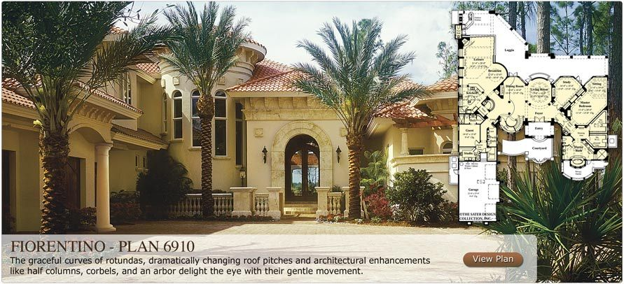 Sater Design Collection The Leader In Luxury Home Plans Luxury House Plans Mediterranean Style Homes Sater