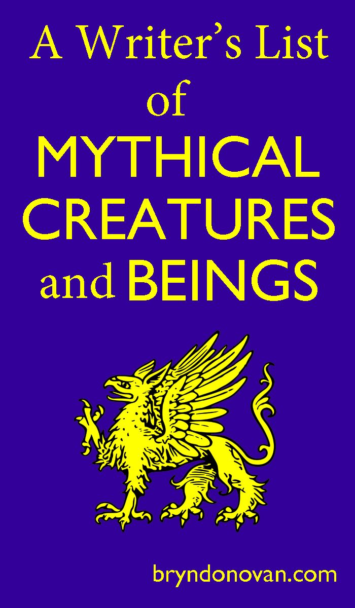 A Writer S List Of Mythical Creatures And Beings With Images