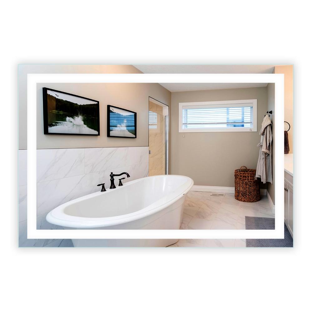 """FrontLighted LED Bathroom Vanity Mirror 60"""" Wide x 40"""