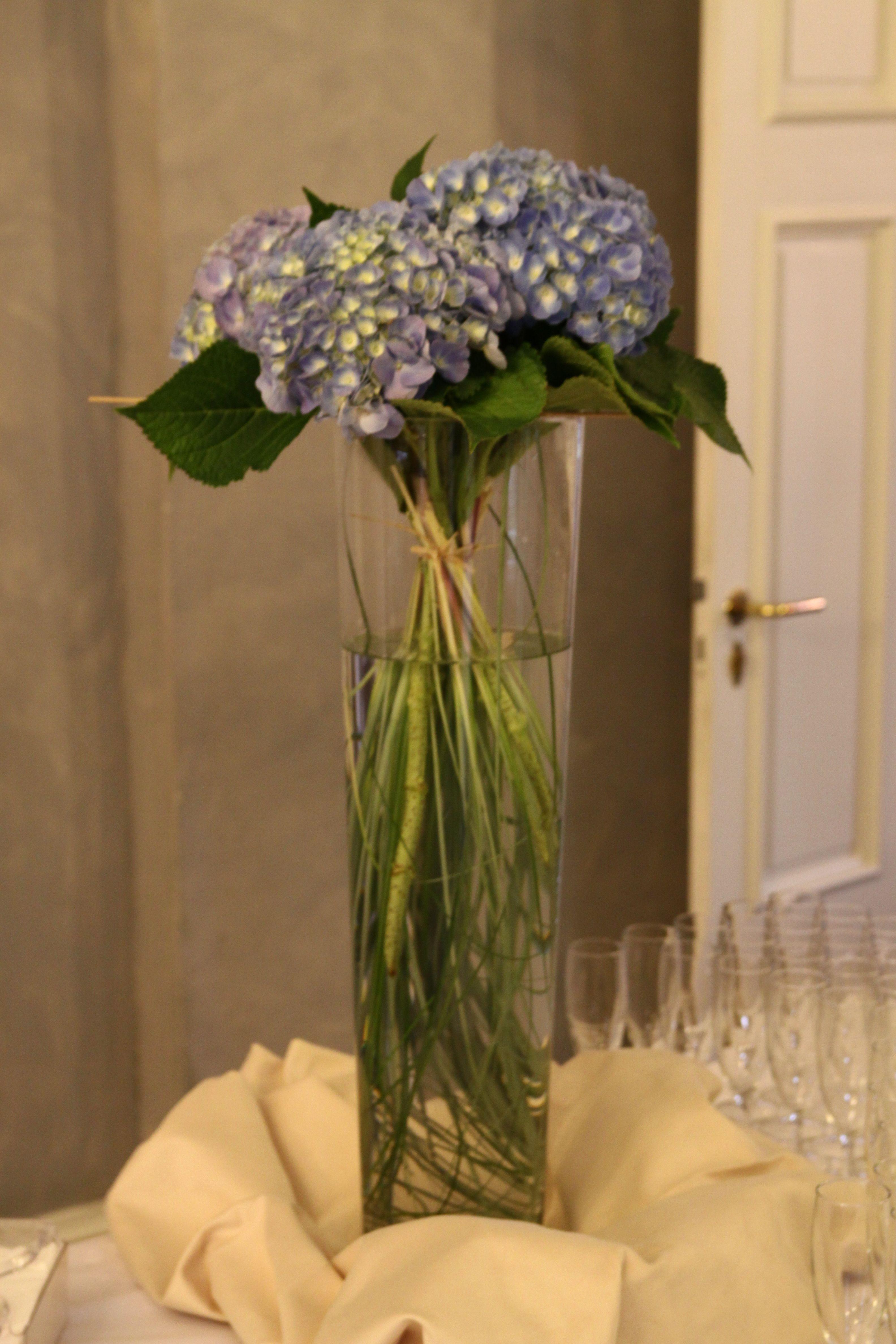 Idee Deco Pour Grand Vase Transparent hortensias dans un grand vase transparent f château de l ile