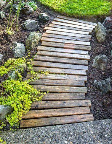 Faire Une Allee De Jardin Fixe Ou Mobile En Palettes Bois Avec