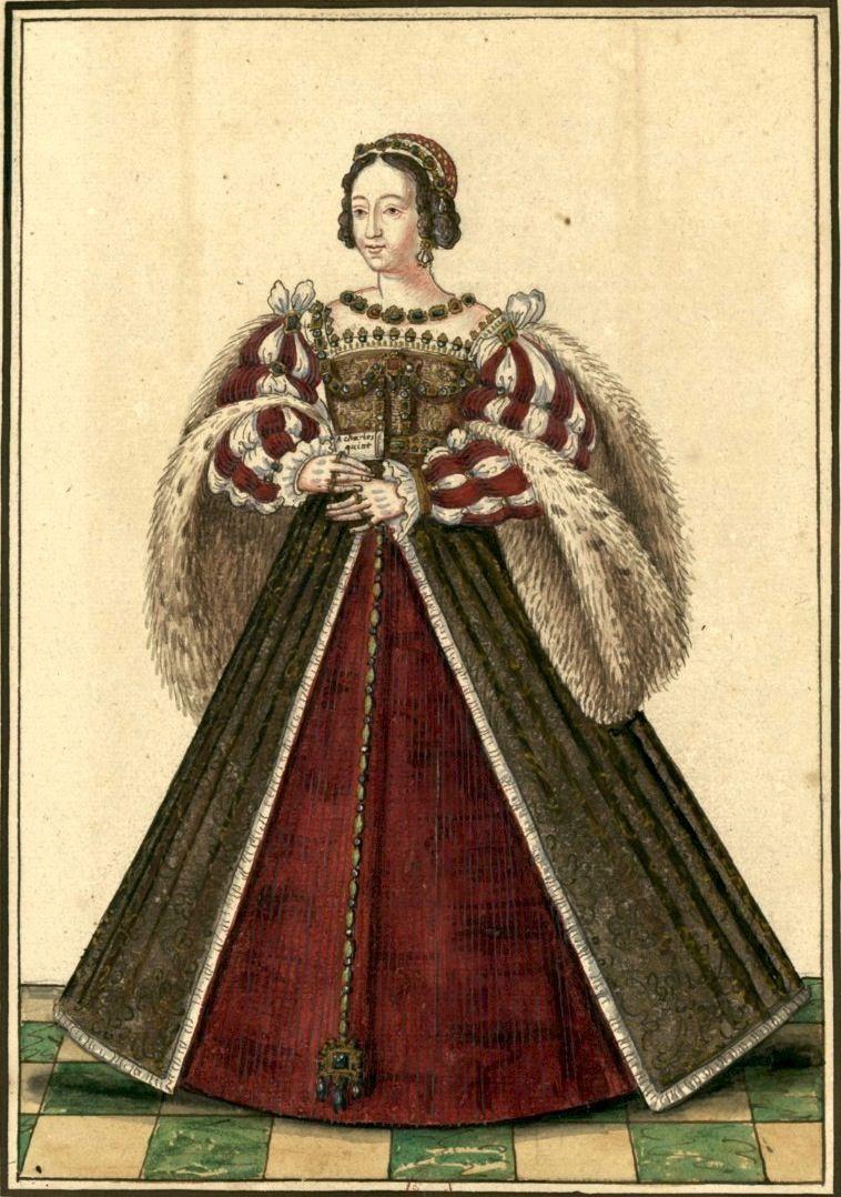 Eleonore D Autriche Reine De France 1558 Dessin D Apres Un Original Gaignieres 13 Personnages Historiques Portrait Dessin