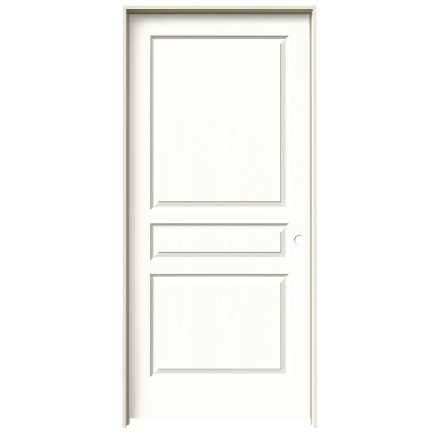Jeld Wen Avalon Snow Storm 3 Panel Square Single Prehung Interior Door Common 36 In X 80 Actual 37 562 81 688