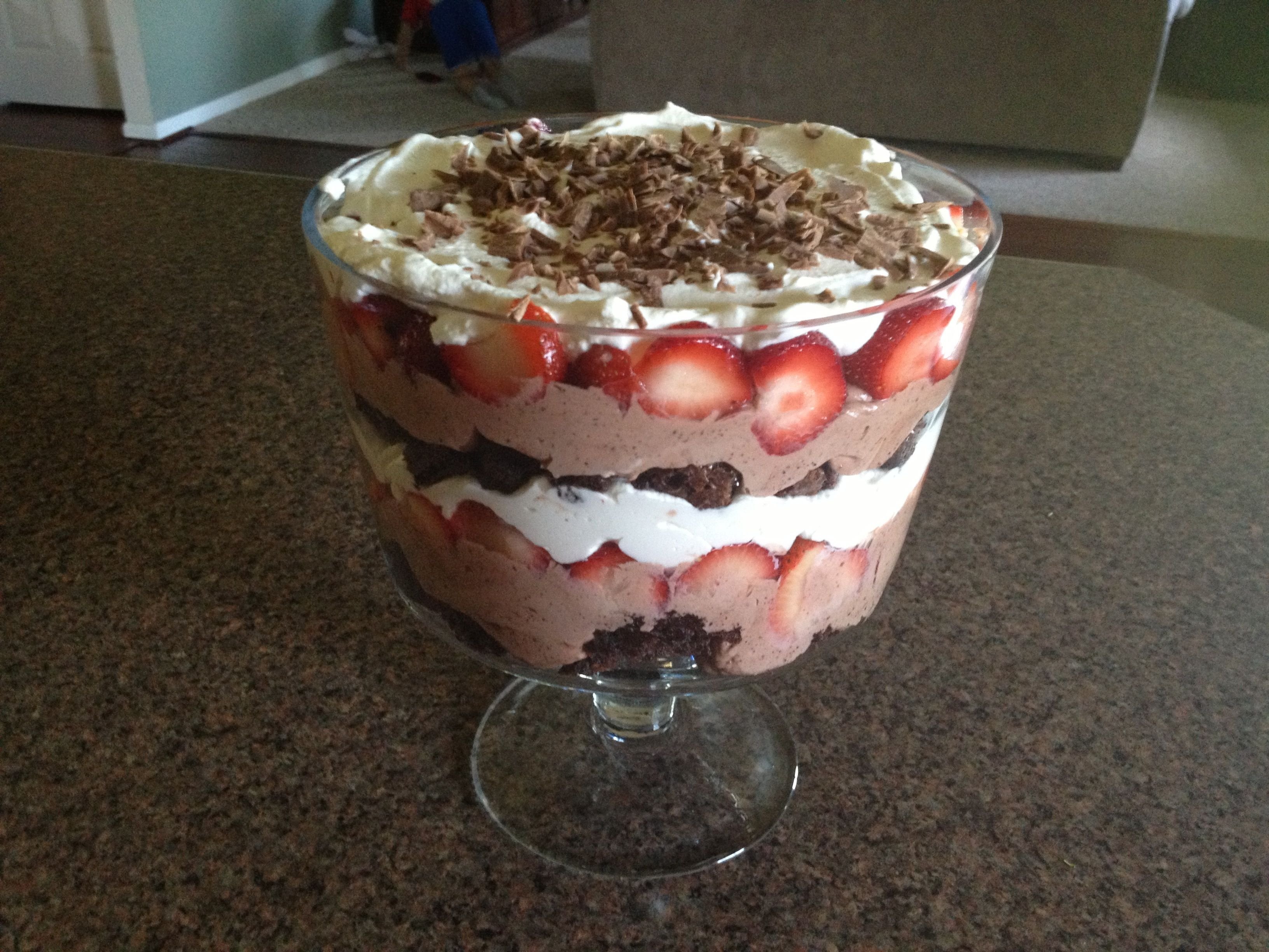 Ultimate Chocolate Strawberry Trifle Ultimate Chocolate Strawberry Trifle