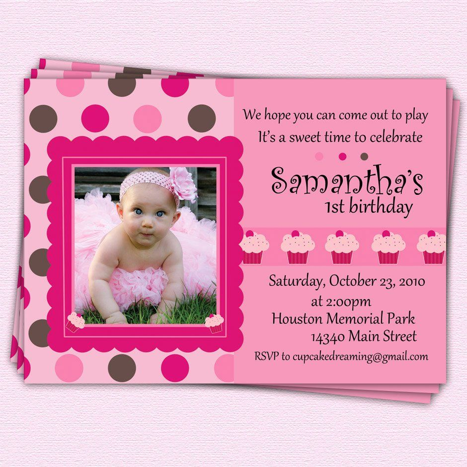 First Birthday Girl Invitation Wording Elegant First