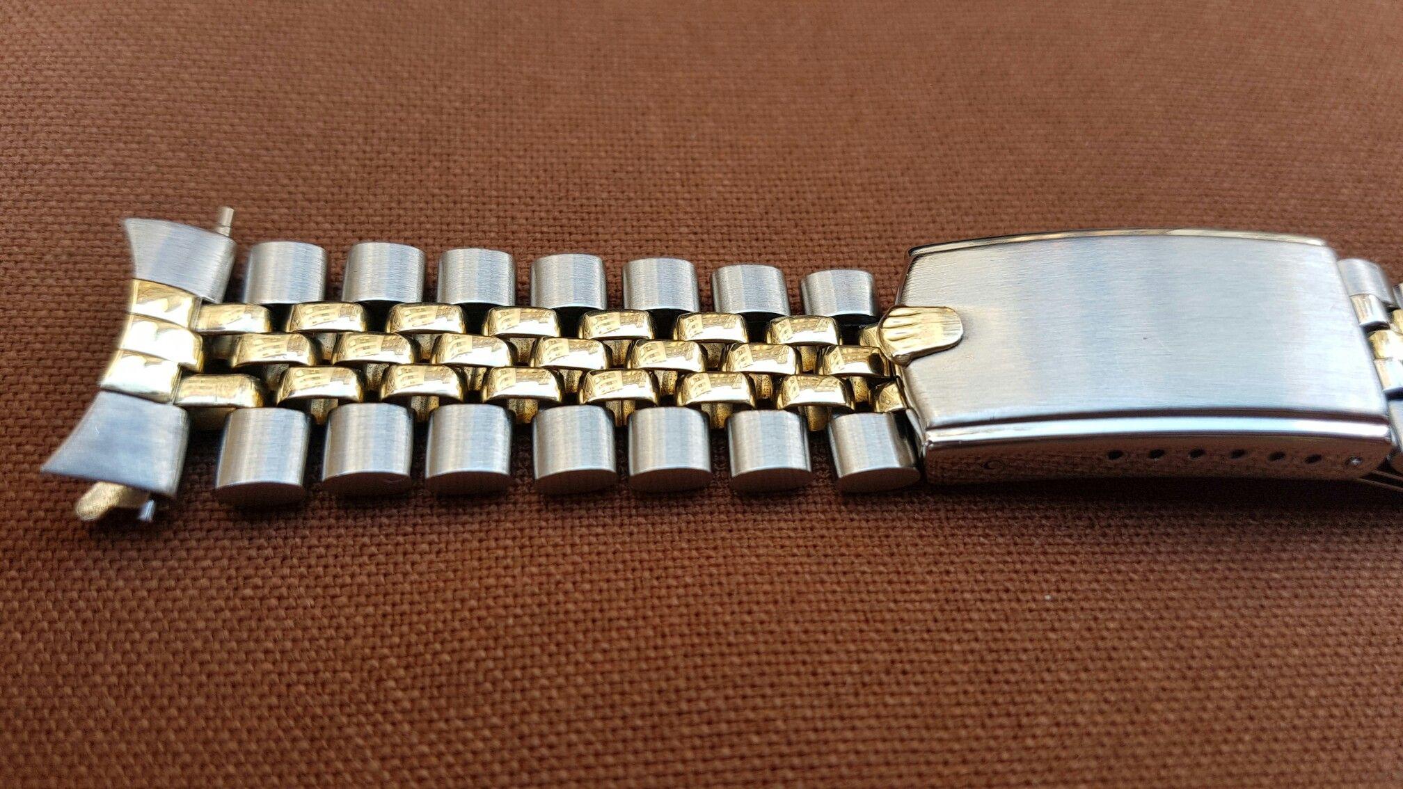 Rolex k trim usa jubilee steel u gold bracelet men wrist