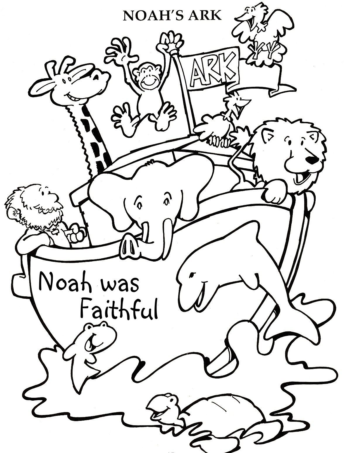 noah coloring pages free printables archives best page throughout ...