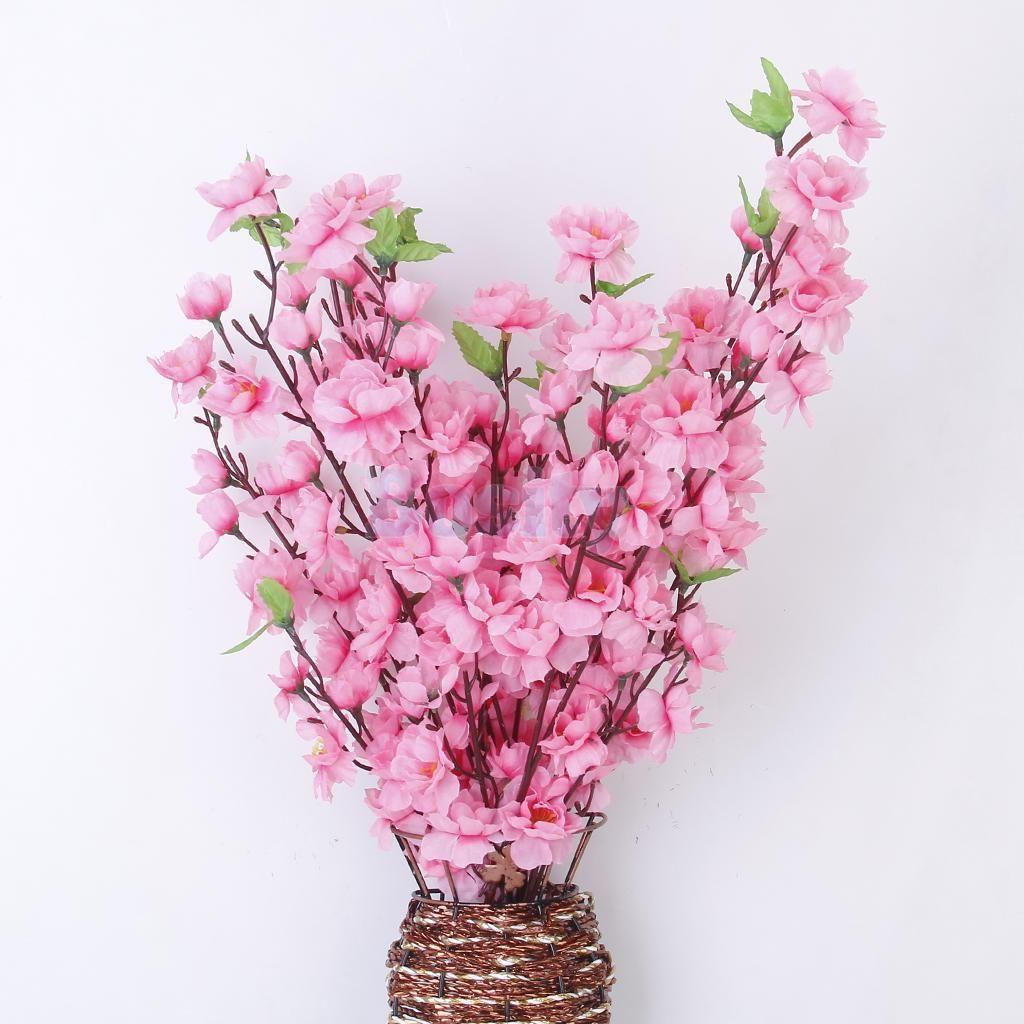10pcs artificial spring peach blossom plum silk flowers weddign 10pcs artificial spring peach blossom plum silk flowers weddign decor pink mightylinksfo