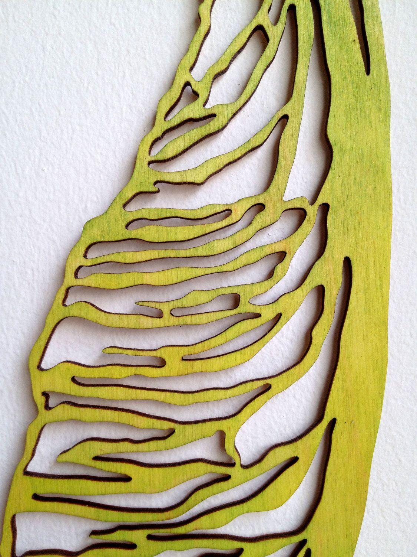 Modern Wall Art - Maple Seed Pod, Green Wood Cutout via Etsy ...