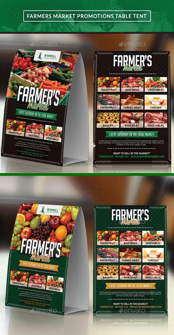 Farmeru0027s Market Table Tent. Food Menu TemplateMenu ... & Farmeru0027s Market Table Tent | Table tents Menu templates and Brochures