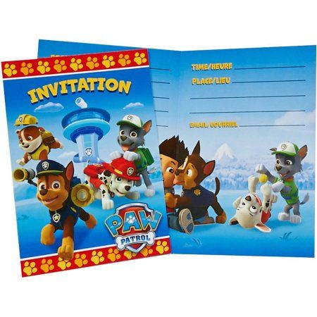Boy Birthday Invitations Walmart Elegant 25 Lovely Paw Patrol PAW 8pk Multicolor