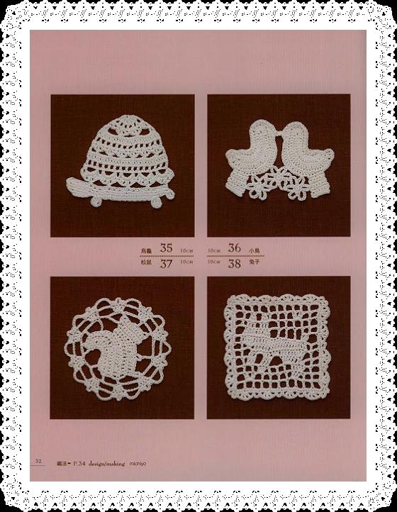 crochet motifs - Le monde du Crochet : pièces en crochet