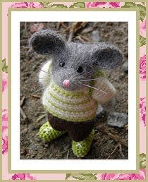 Elsas adorable mice from Fröken Elsas virkblogg