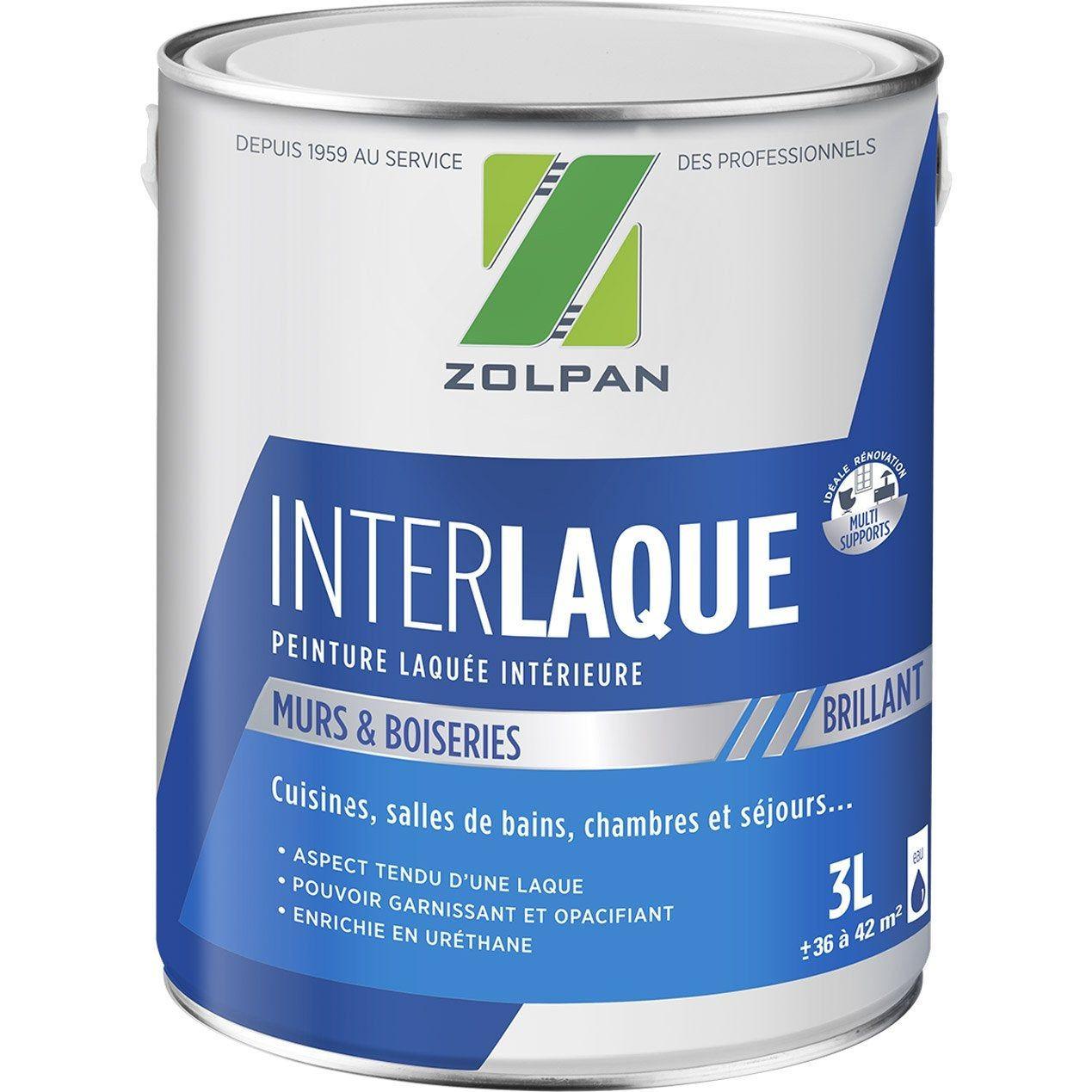 Peinture Zolpan Mur Plafond Et Boiserie Inter Laque Blanc
