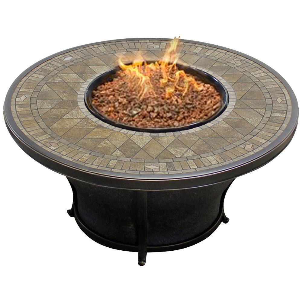 Balmoral inch round porcelain top gas fire pit table gas fire
