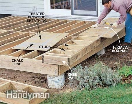 How To Build A Wood And Stone Deck Building