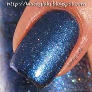 """@Tawdry Terrier """"Howling at the Moon"""" - Check out swatches and a #review of @Tawdry Terrier polishes by @Wacky Laki: http://wackylaki.blogspot.com/2013/09/tawdry-terrier-autumn-in-barkshires.html.  These polishes are now available at http://www.etsy.com/shop/TawdryTerrier #nailpolish #indienailpolish #tawdryterrier #wackylaki"""