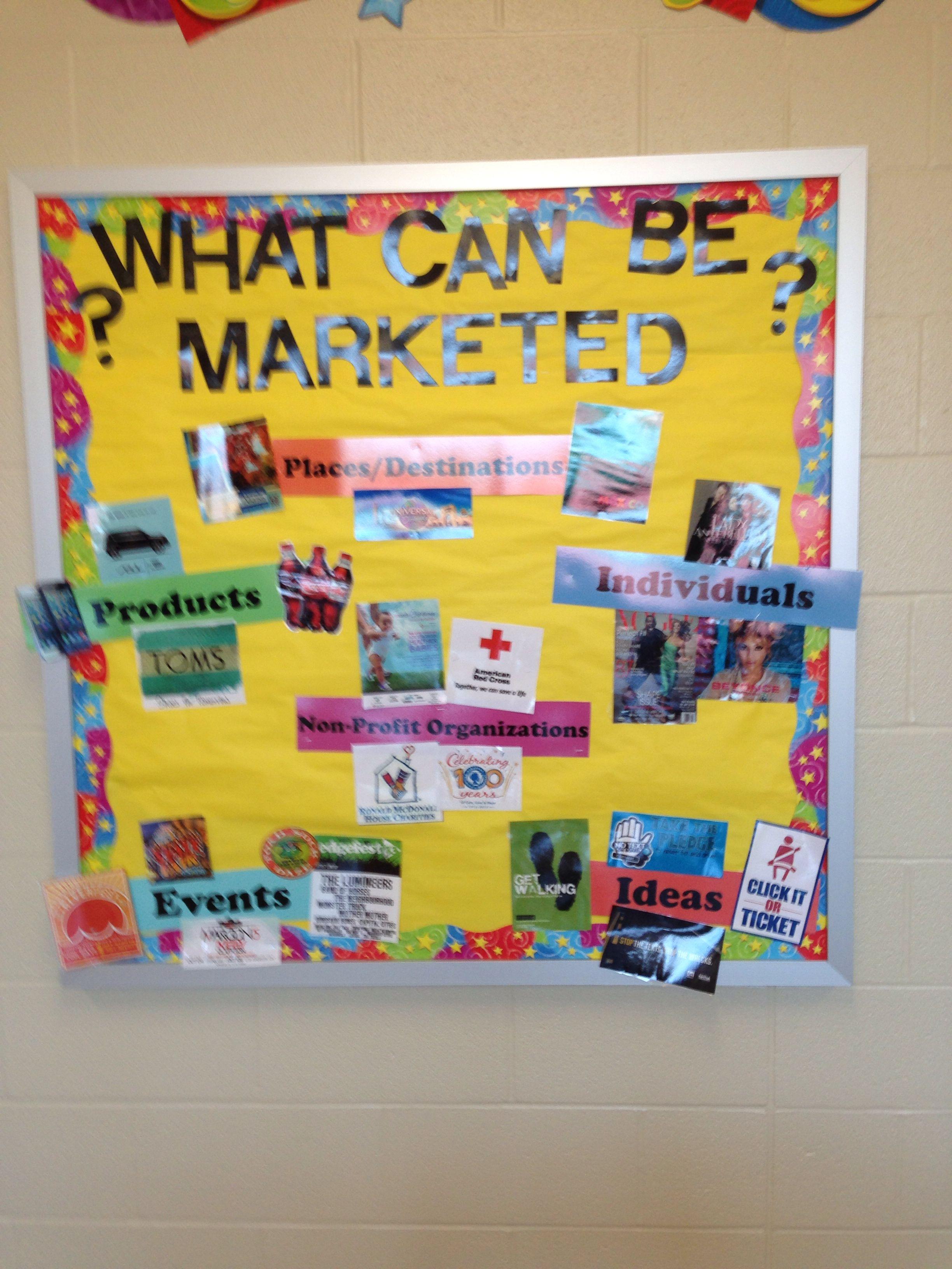 marketing bulletin board i created school pinterest classroom