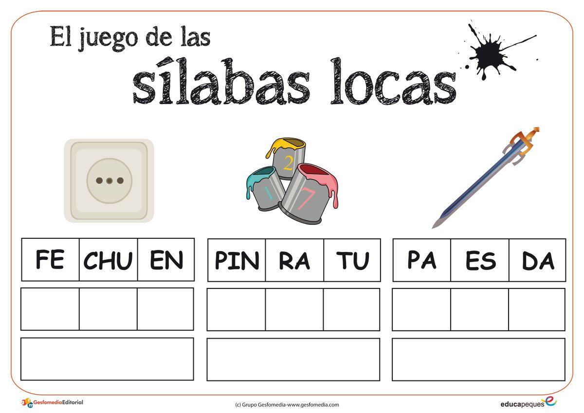 Pin En Sílabas Locas