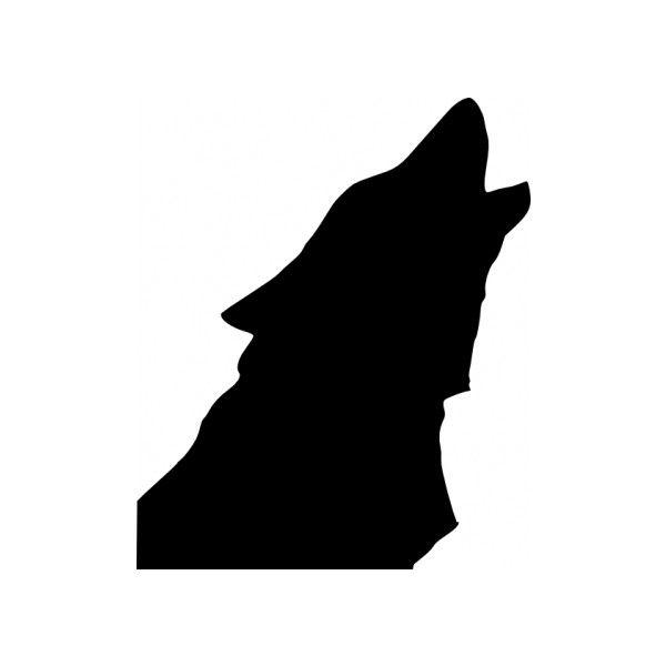 wolf head howl clip art vector clip art vector file graphic for rh pinterest com Howling Wolf Logo Tribal Wolf Logo