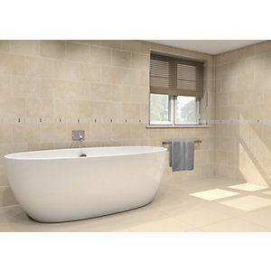 Wickes crema marfil gloss ceramic wall floor tile 275 x 360mm wickes crema marfil gloss ceramic wall floor tile 275 x 360mm wickes ppazfo