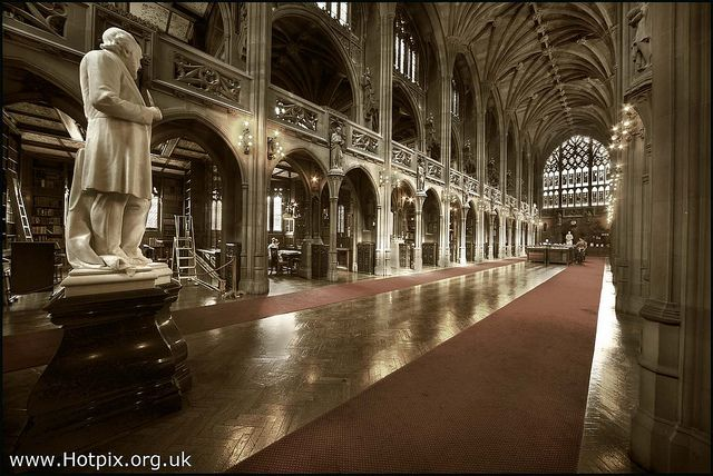 365-334 John Rylands Library Historic Reading Room, Manchester UK by Hotpix [LRPS] Hanx for 1.5M Views, via Flickr