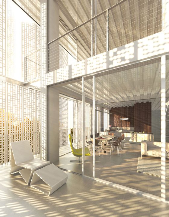 Loch fassaden perforierte architektur materialien 330 au enw nde pinterest architektur - Klassische moderne architektur ...
