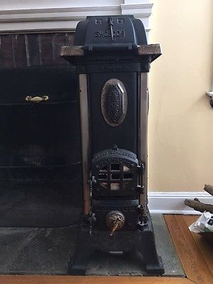 Antique Parlor Coal Stove Cast Iron Swoboda From Germany