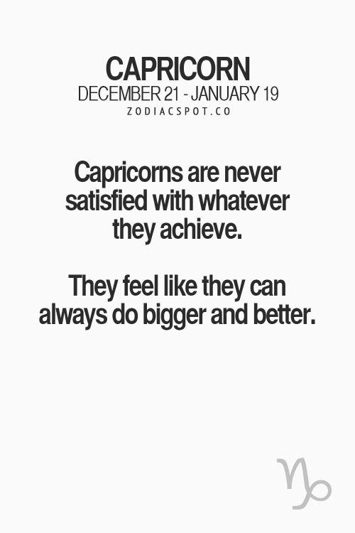 Capricorn traits.