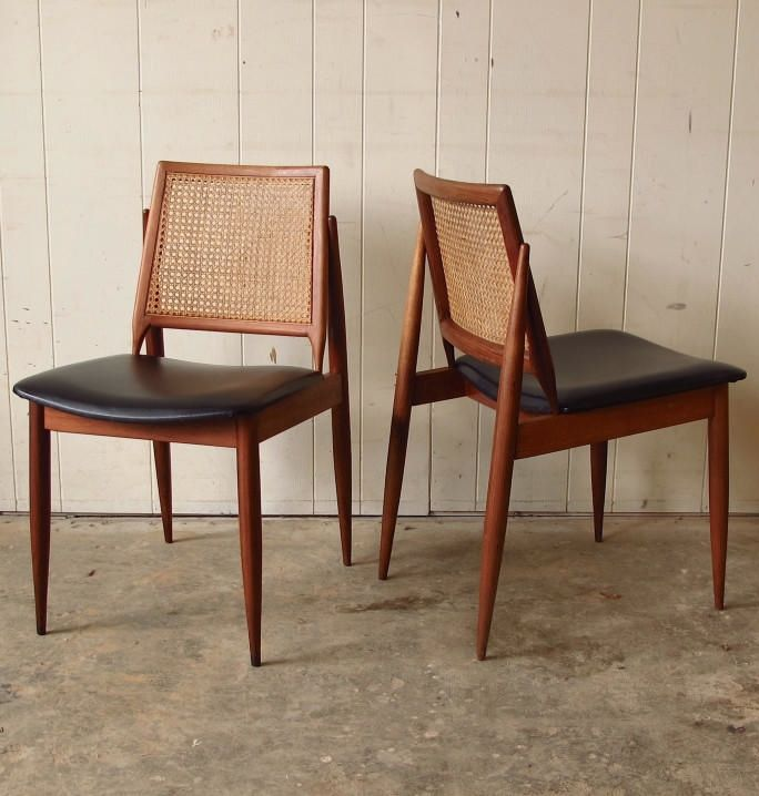ingenious idea mid century side chair. John Duffecy  Blackwood and Cane Side Chairs 1960s CHAIRED