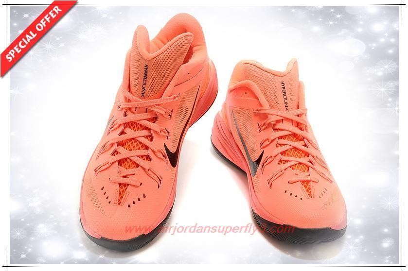 sports shoes a4c6a b2038 Mens 706505-062 Pale orange / Red / Black Nike Hyperdunk 2014 Low ...
