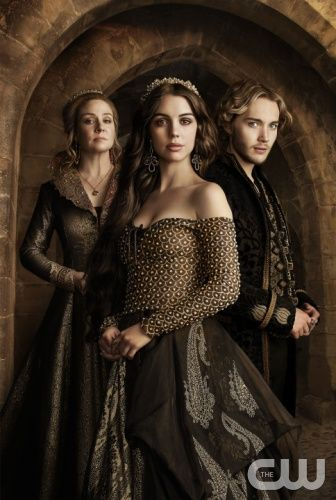 Reign -- Image Number: RE2_S2_KA.jpg -- Pictured (L-R): Megan Follows as Catherine de Medici, Adelaide Kane as Mary, Queen of Scotland and France and Toby Regbo as King Francis II -- Photo: Frank Ockenfels 3/The CW -- © 2014 The CW Network, LLC. All rights reserved.