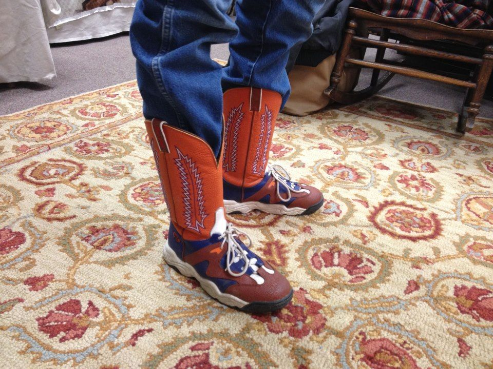 tennis shoe meets cowboy boot fancy footwork