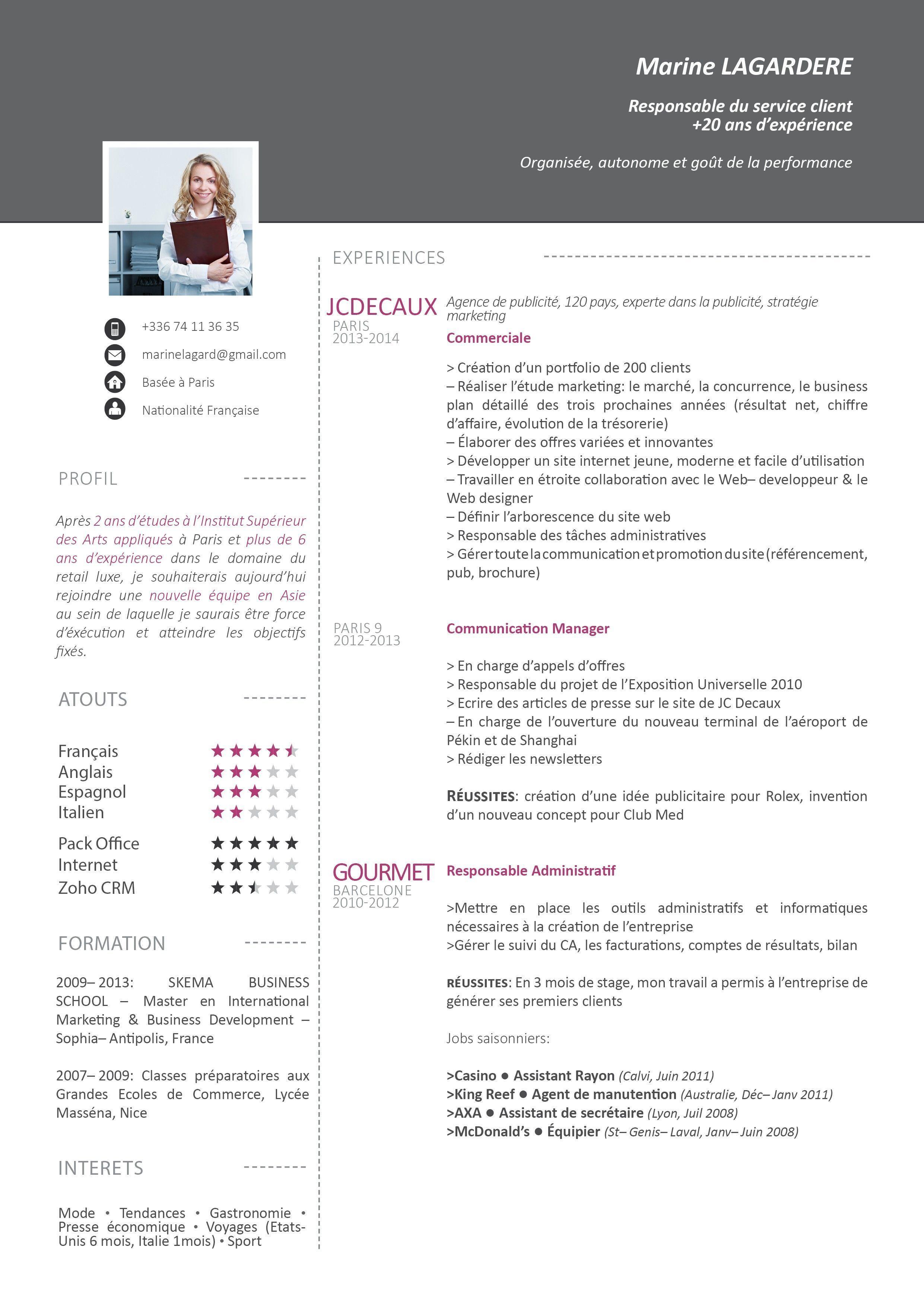 Cv Gratuit Creatif Curriculum Vitae Teaching Resume Cv Design