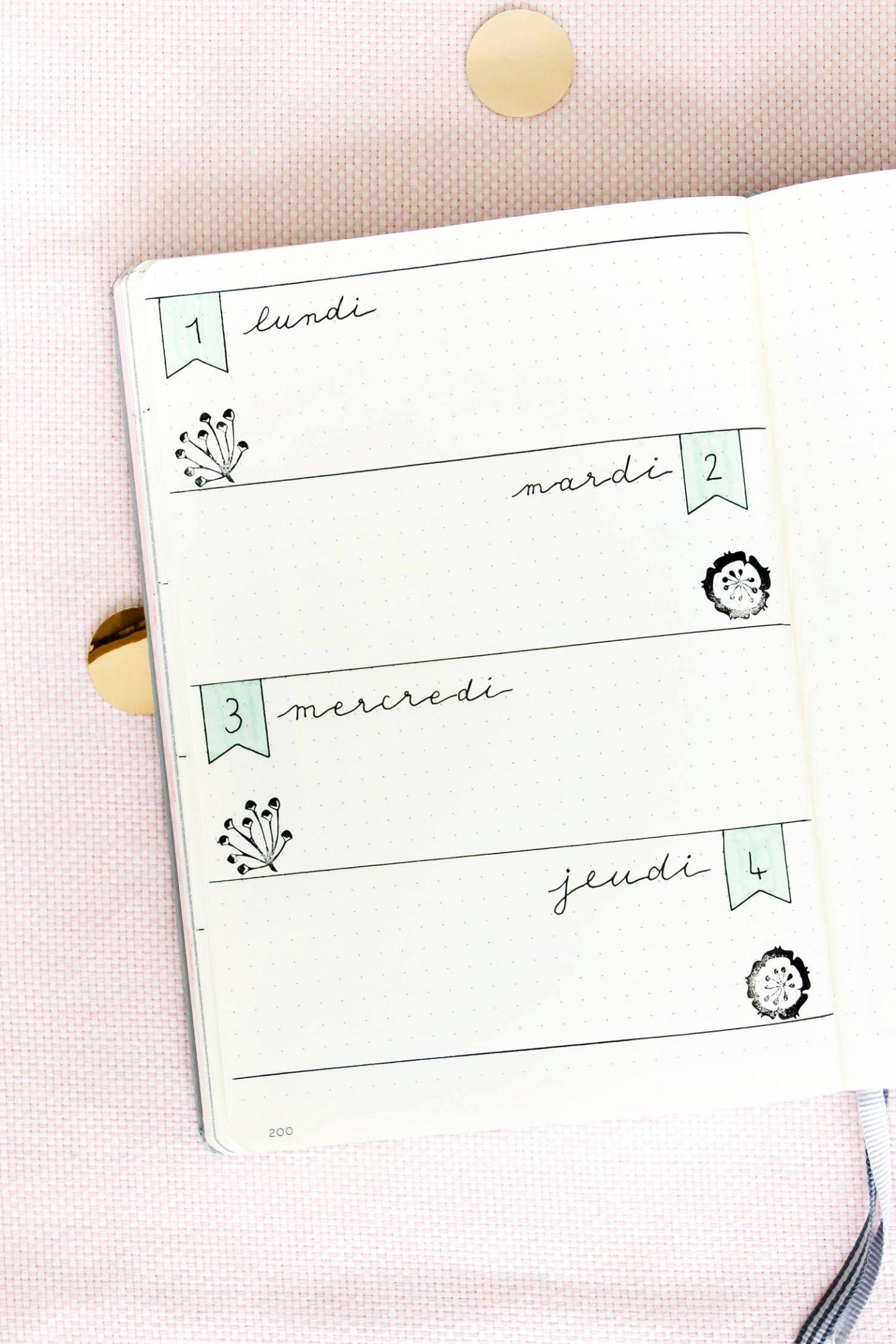 Comment décorer son Bullet Journal sans avoir à dessiner - Manayin