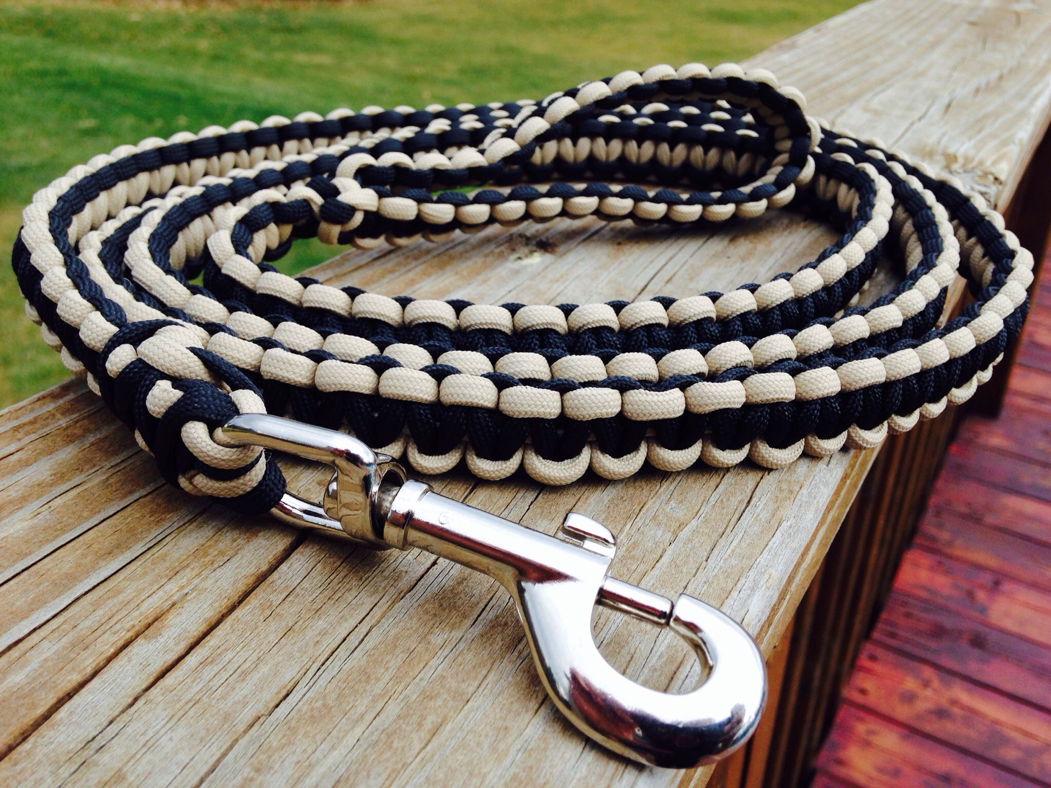 how to make a paracord dog leash using cobra stitch
