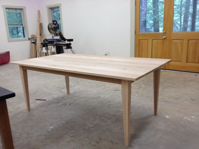 Red Oak Four Sided Tapered Dining Table Leg