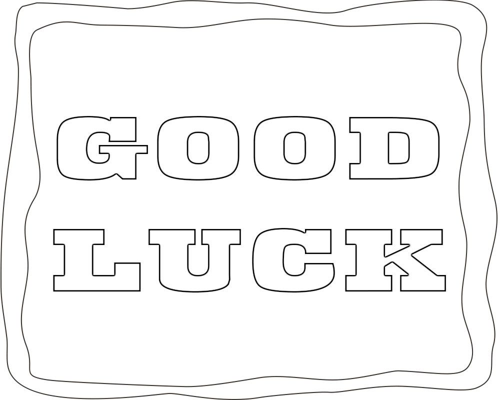 good luck coloring pages Good Luck Coloring Pages | Free Coloring Pages | Coloring pages  good luck coloring pages