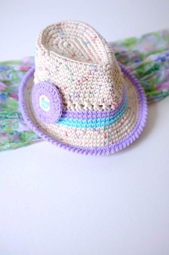 Baby Girl Fedora Newborn Photo Prop Baby Shower Gift Crochet. Baby Fedora  Hat GirlsToddler ... 057fcacf1c52