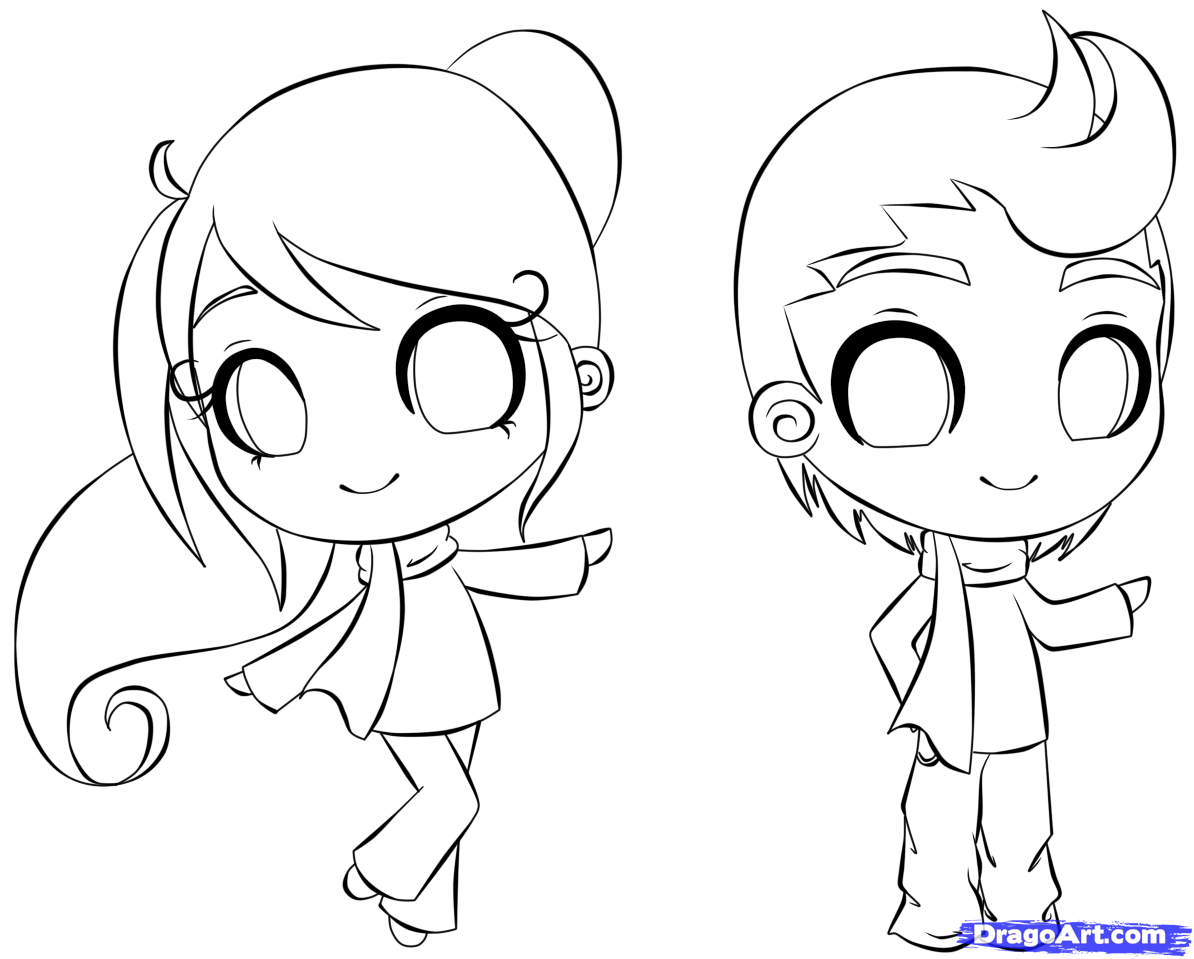 How To Draw A Chibi Person Step 9 Cartoon Drawings Of People Cartoon Drawings Chibi Drawings